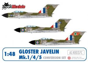 Gloster Javelin Mk.1/4/5 Conversion and Decal Set
